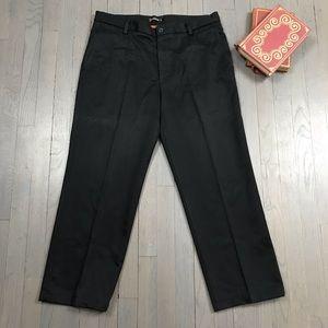 Dockers D2 Straight Fit Black Khaki Chino Pants 34